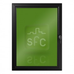 1000mm x 1400mm Black Lockable Poster Frame