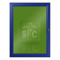 A3 Blue Lockable Poster Frame