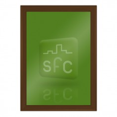 A4 Chocolate Brown Snap Frame 32mm