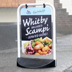 White Printed Panel Swinger Sign (Small)