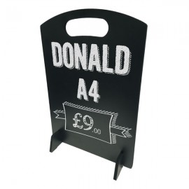 Donald A4 Table Top Chalkboard